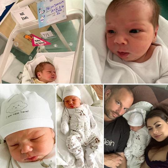 Touto koláží Petra Pudová oznámila narození syna.