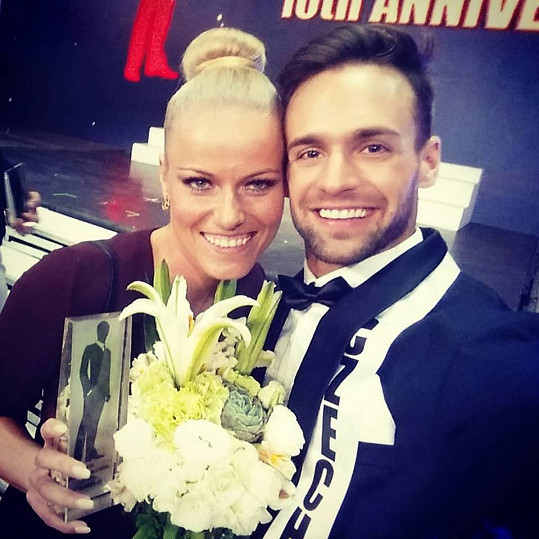 Jakub Kraus s přítelkyní