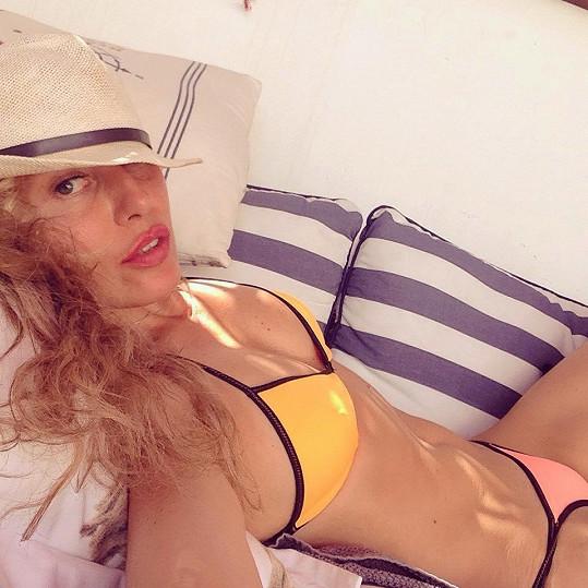 Simona Krainová na Lanzarote