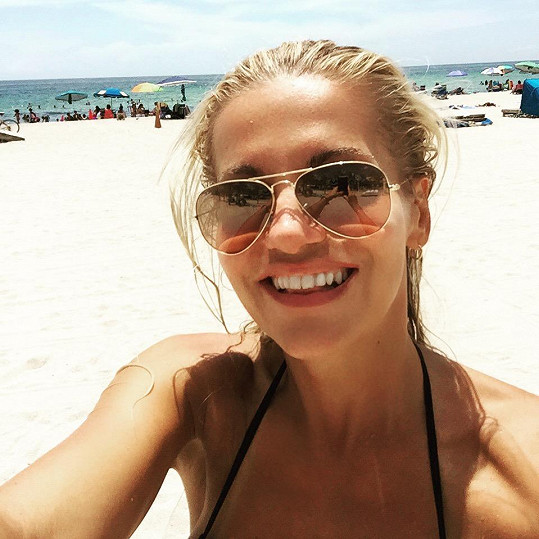 Spokojená zpěvačka na South Beach
