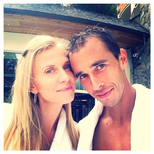 Míša s přítelem Lukášem Rosolem ve spa hotelu v Rakousku