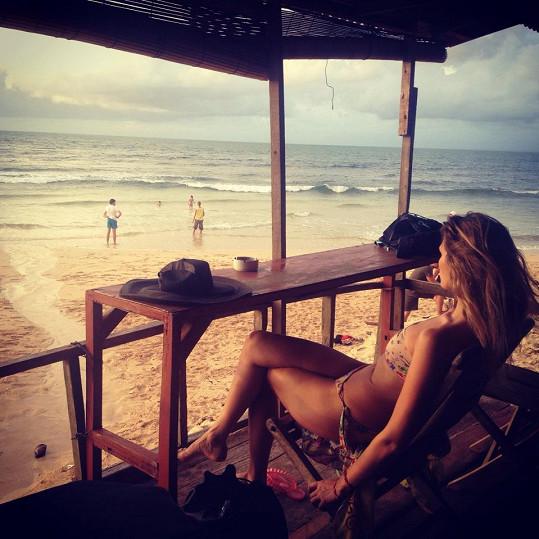 Míša si užívá dovolenou na Bali.
