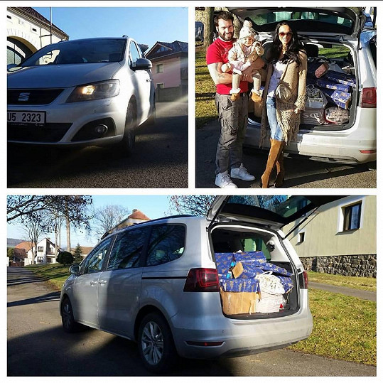 Vašek Noid Bárta s manželkou Gábinou a dcerou Terezkou odjeli na Vánoce ke Gábininým rodičům na jih Čech.