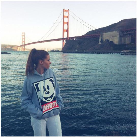 Tereza Kerndlová si užívá dovolenou v USA. Nadšena byla ze San Franciska.