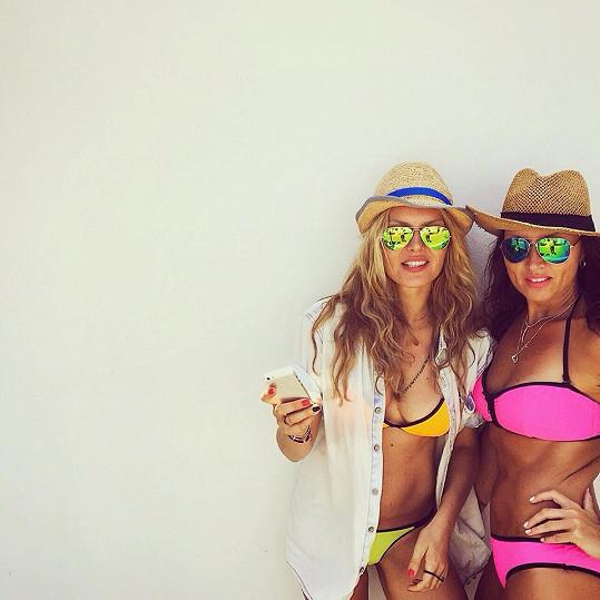 Simona Krainová a Yvona Maléřová na Lanzarote