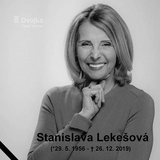Stáňa Lekešová zemřela 26. prosince.