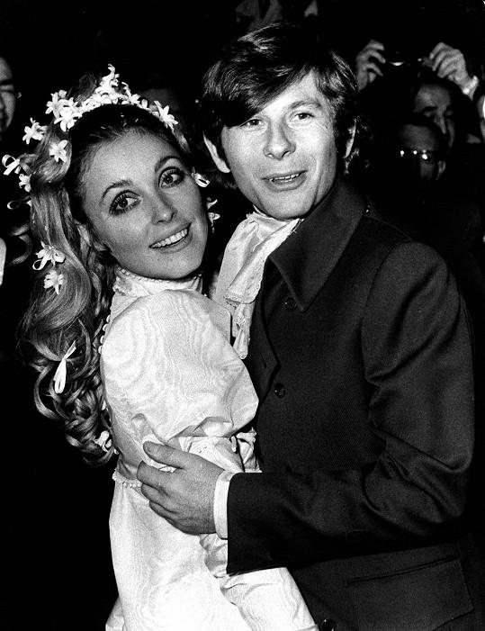 Sharon Tate a Roman Polanski se vzali v lednu roku 1968.