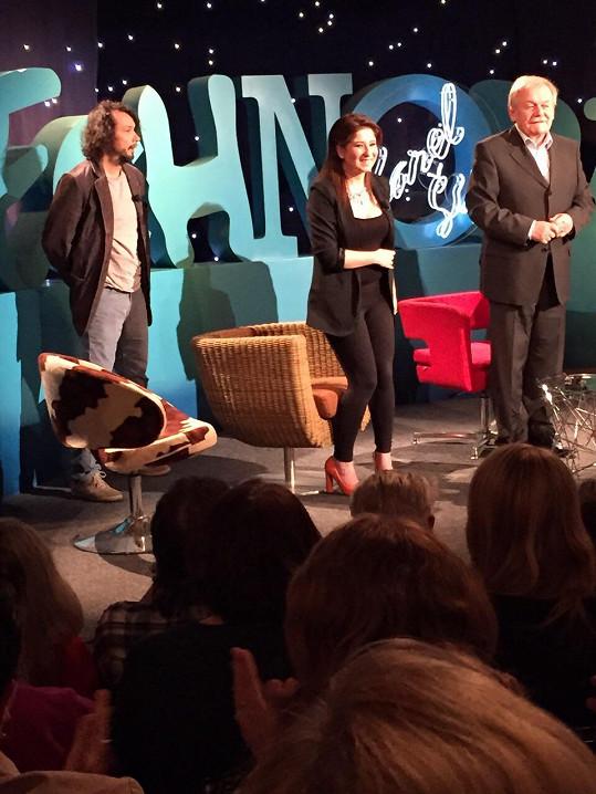 Při natáčení Všechnopárty stála po boku Pavla Lišky.