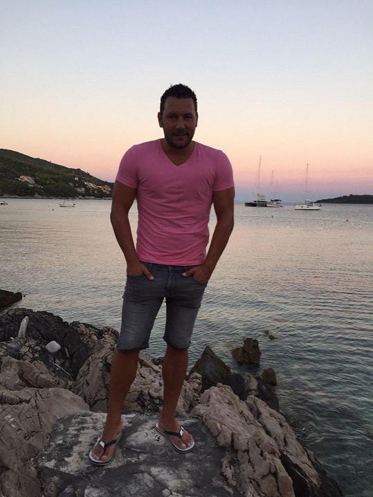 Michal trávil dovolenou na Korčule.