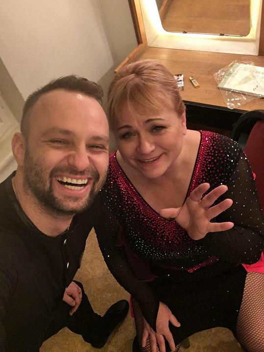 Marek Dědík s Pavlou Tomicovou