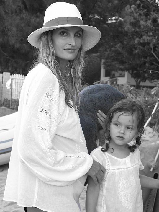 S dcerou Mínou na dovolené