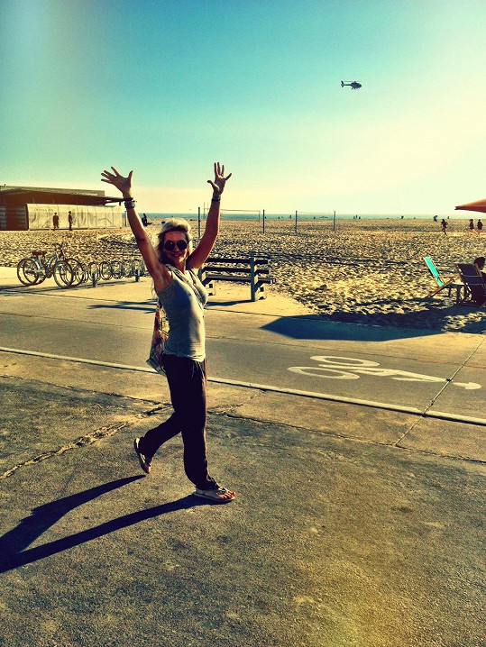 Na legendární pláži v Santa Monice