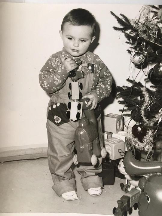 Mirek Šimůnek jako malý kluk