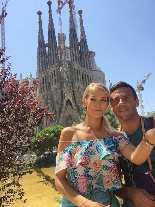 S přítelkyní Petrou Vraspírovou