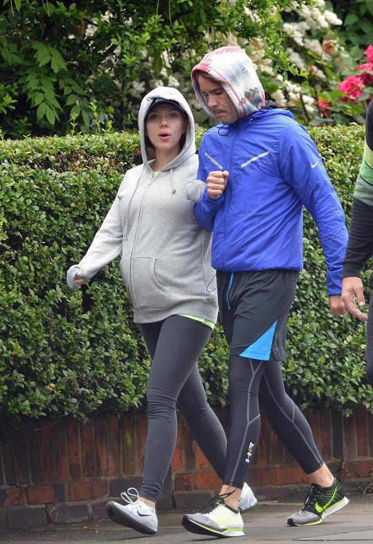 Romain Dauriac se slavnou manželkou pár týdnů před porodem.