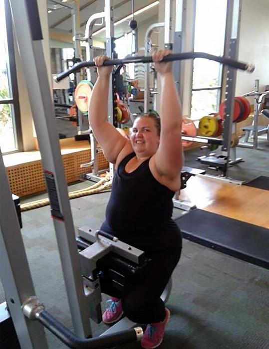 Boubelka zhubla díky cvičení.