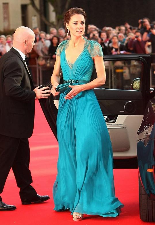 Vévodkyně Catherine na olympijském večeru v Londýně...