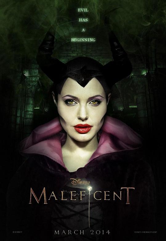 Angelina jako zlá čarodějnice