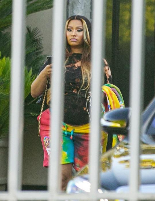 Nicki Minaj se poprvé od oznámení těhotenství objevila na veřejnosti.