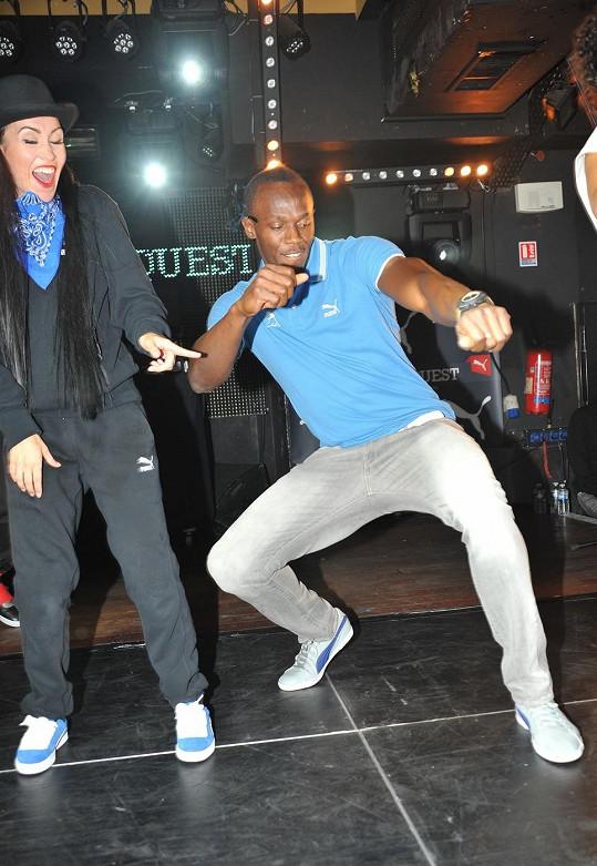 Usain Bolt předvedl své taneční nadání.