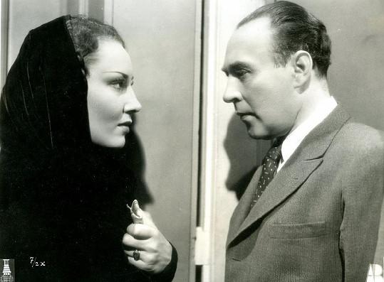 Lída Baarová a Bedřich Veverka ve filmu Panenství (1937)
