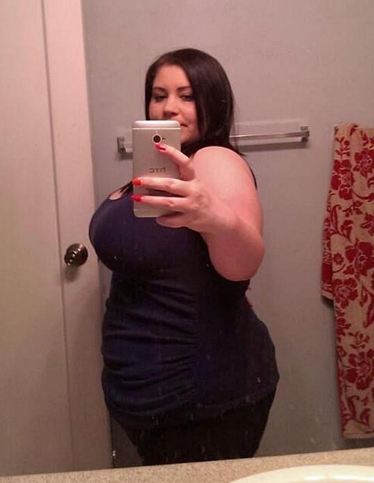Donna Clayton v době, kdy vážila 118 kil.