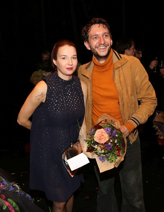 Berenika s Václavem Jílkem, který hraje Honzu.