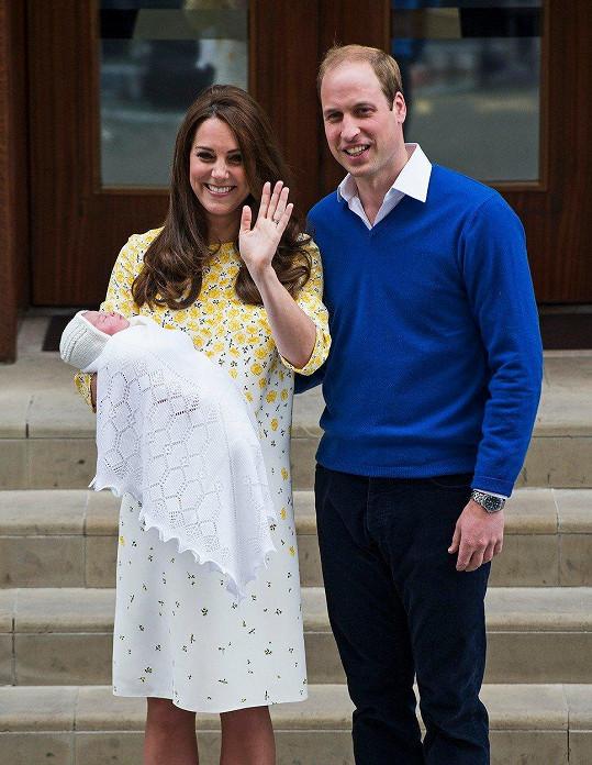 Princezna Charlotte Elizabeth Diana z Cambridge přišla na svět 2. května 2015.