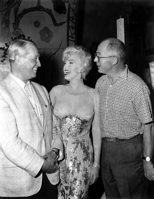 Marilyn Monroe s Mauricem Chevalierem a Billym Wilderem