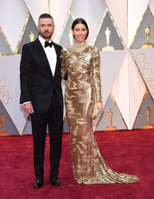 Jessica Biel se svým skutečným manželem Justinem Timberlakem