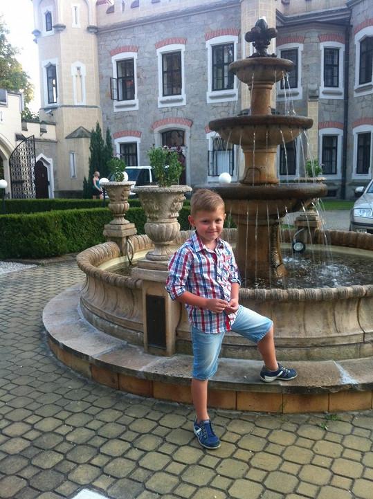 Kristian Kokta si prohlídku zámku užil.