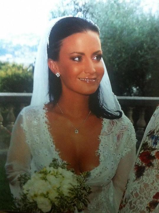 Gábina jako nevěsta přesně před sedmi lety.