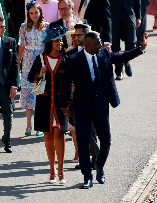 Herec Idris Elba s partnerkou Sabrinou Dhowre