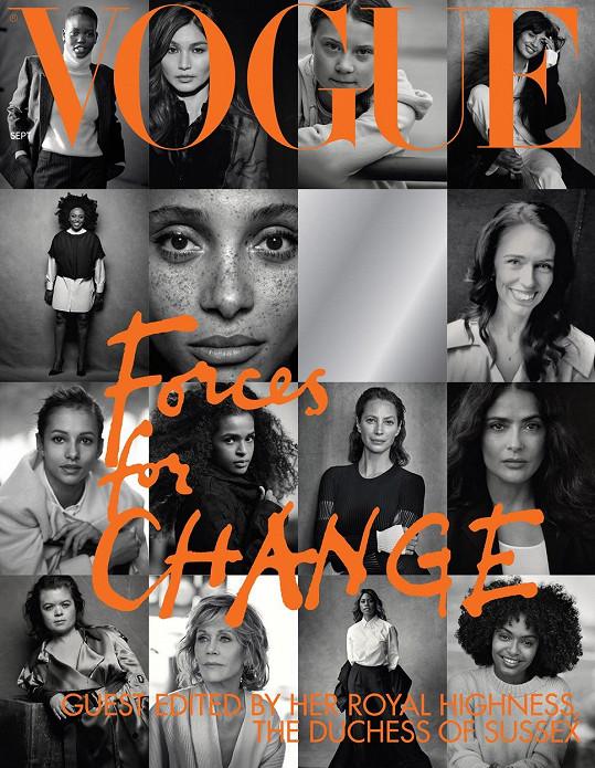Titulka zářijového britského Vogue nafocená slavným fotografem.
