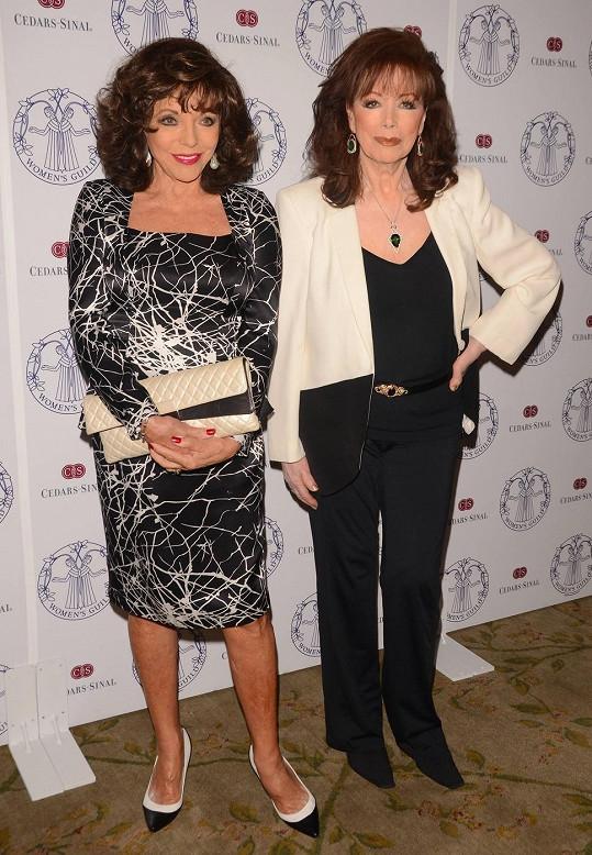 Joan Collins a Jackie Collins na večírku Women's Guild nemocnice Cedars-Sinai