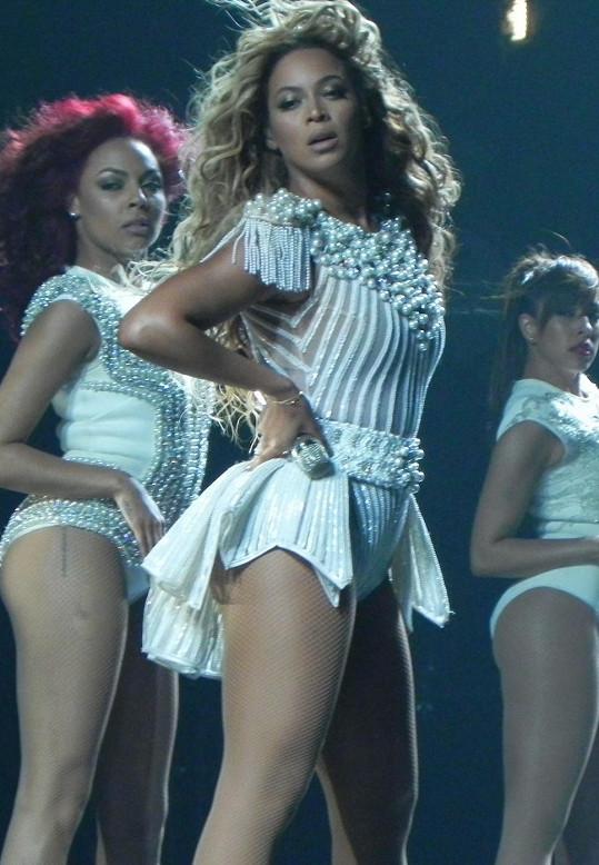 Beyoncé během svého nedávného vystoupení.