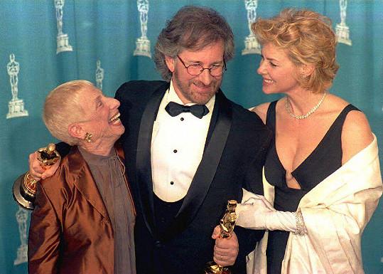 Steven Spielberg s manželkou Kate Capshaw a maminkou Leah Adler