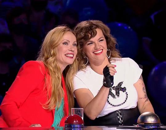 Diana Mórová a Marta Jandová neskrývaly nadšení.