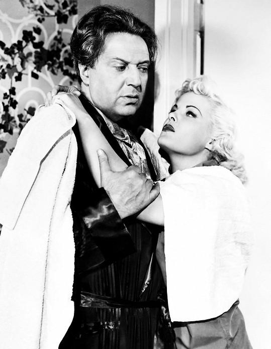 Hugo Haas s herečkou Cleo Moore (1952)