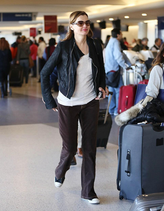 Na letišti v Los Angeles na konci minulého týdne