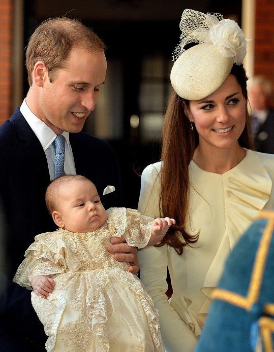 S malinkým princem Georgem v den jeho křtu. Psal se říjen roku 2013.