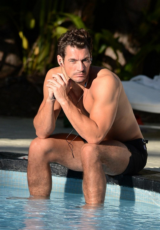 Gandyho u bazénu nelze přehlédnout.