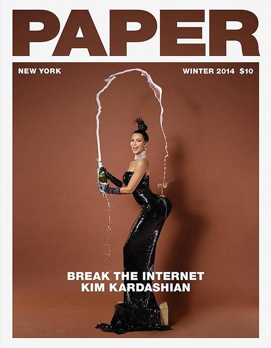 Další Kim na obálce magazínu Paper z roku 2014