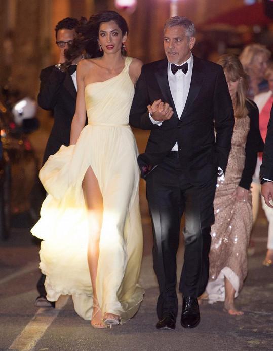 George Clooney s manželkou Amal v Cannes