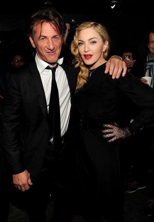 Madonna a Sean Penn v roce 2013