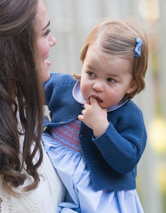Princezna Charlotte ještě jako roční batole.