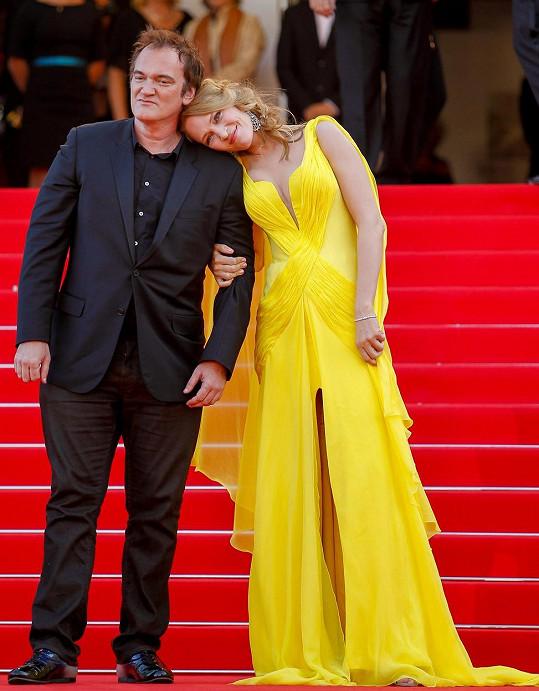Quentin Tarantino s Umou Thurman na festivalu v Cannes (2014)