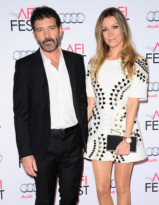 Antonio s Nicole na filmovém festivalu v Los Angeles jen zářil.