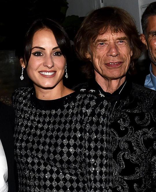 Mick Jagger s mladičkou manželkou Melanií Hamrick