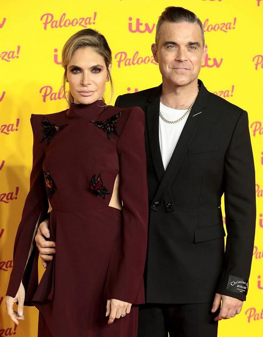 Robbie Williams s manželkou Aydou